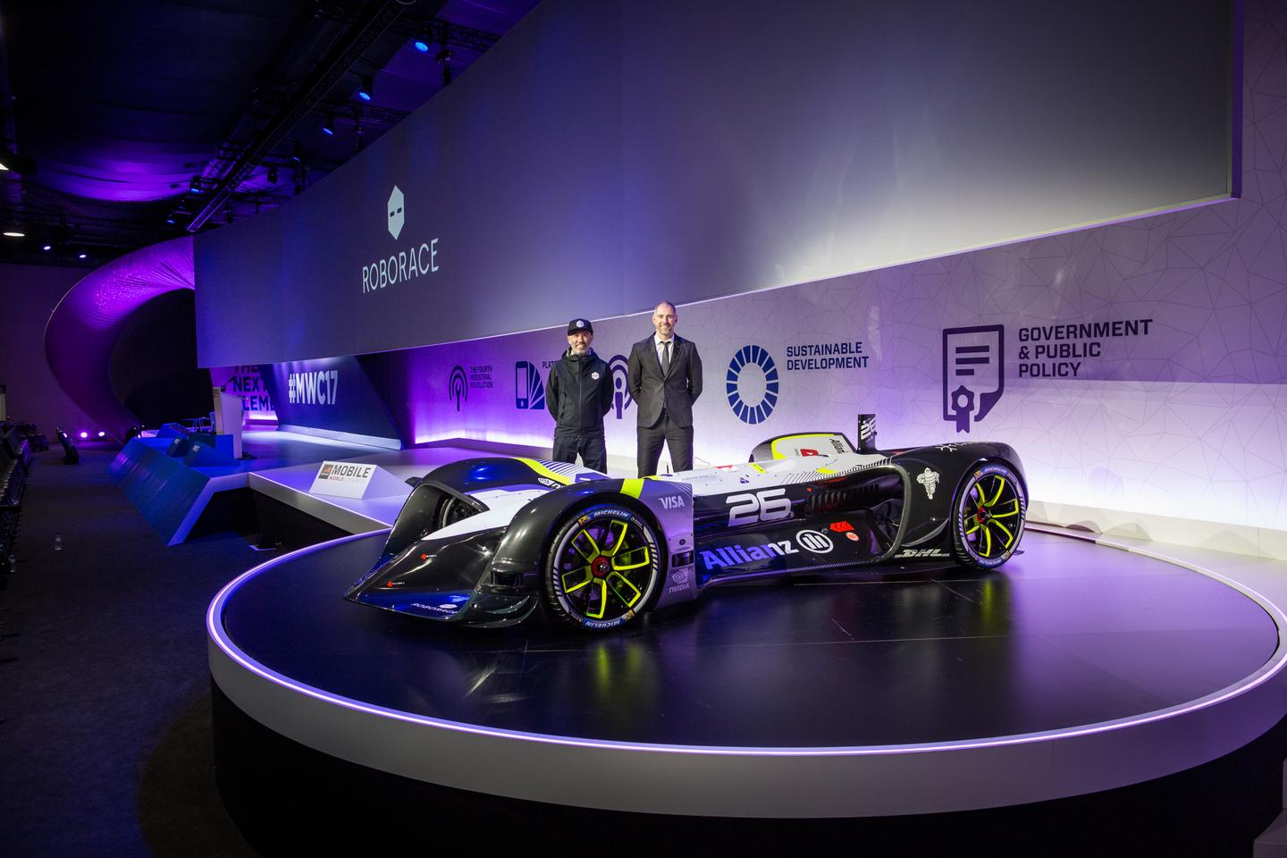 The Robocar at its launch in Barcelona