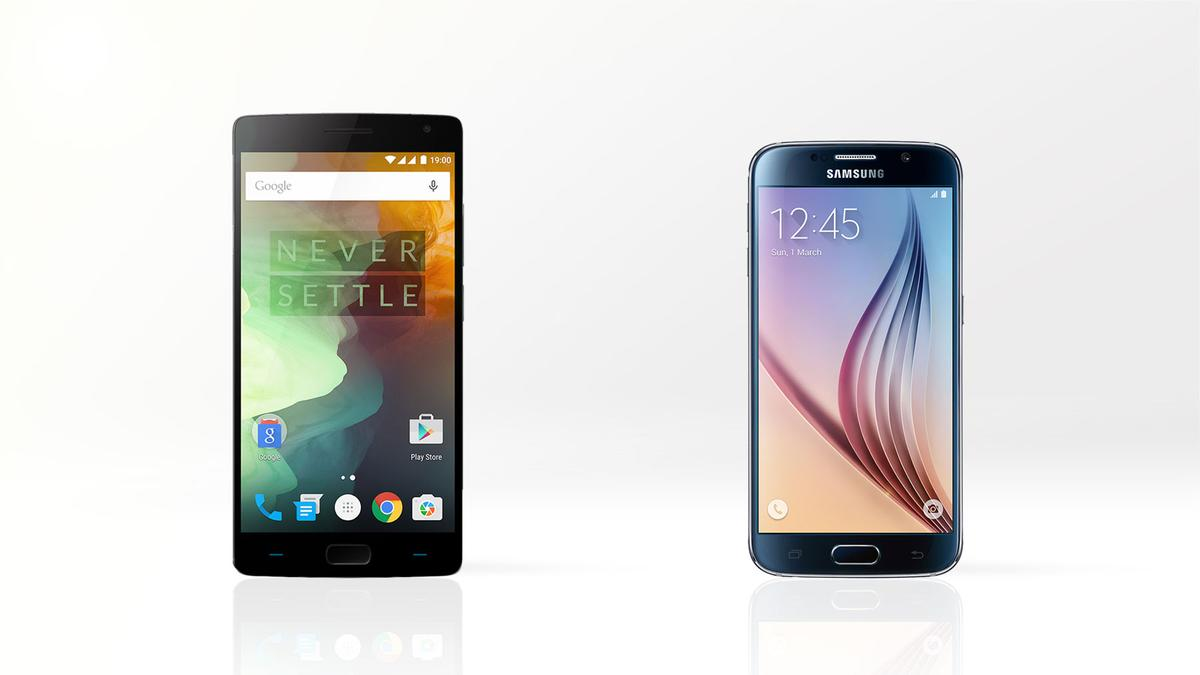 Gizmag compares the features and specs of the OnePlus 2 (left) and Galaxy S6