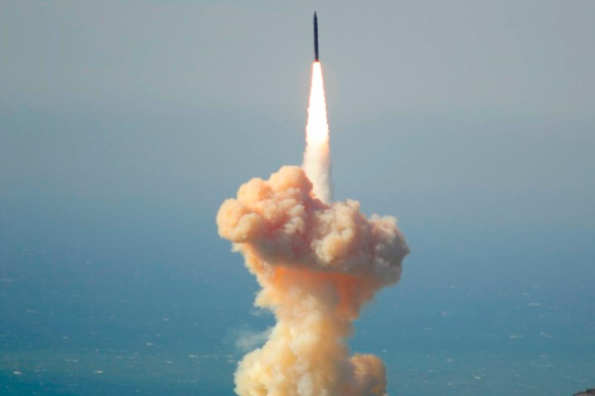 The interceptor was launched from Vandenberg Air Force Base