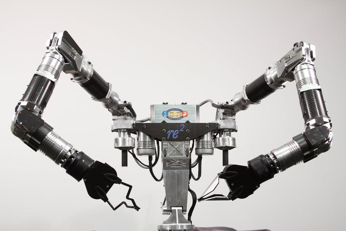 RE2 Robotics will leverage its robotic manipulation expertise, demonstrated in products like the Highly Dexterous Manipulation System (pictured), to develop a drop-in robotic system that can fly a plane like a human
