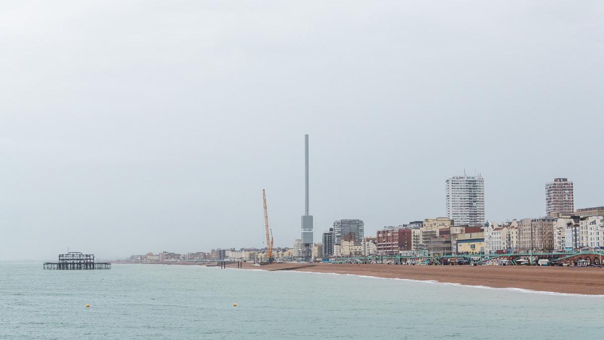 "The Brighton i360 tower was constructed using circular steel sections, or ""cans"""
