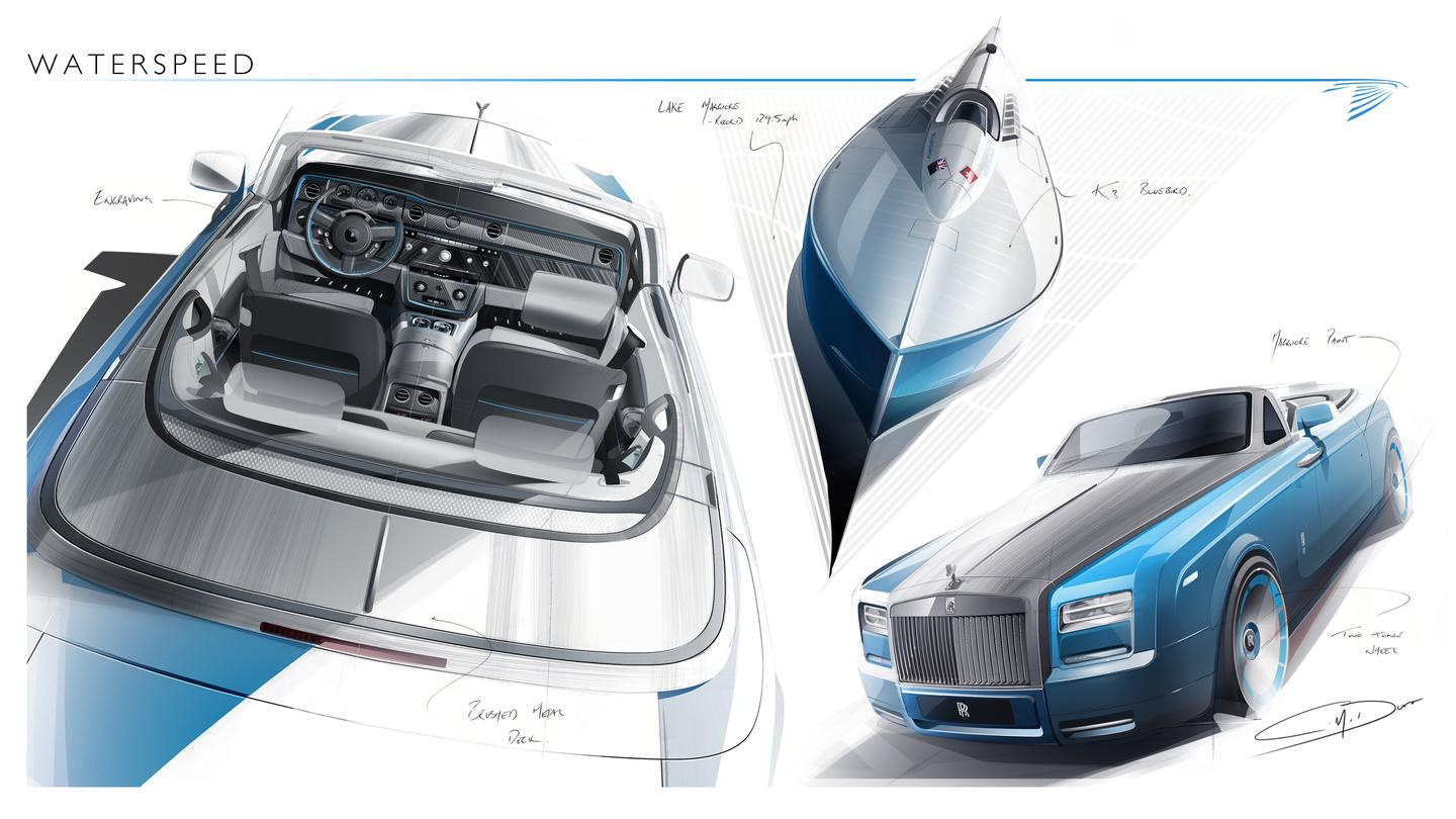 Phantom Drophead Coupé is based on Sir Malcolm Campbell's Blue Bird K3 speedboat