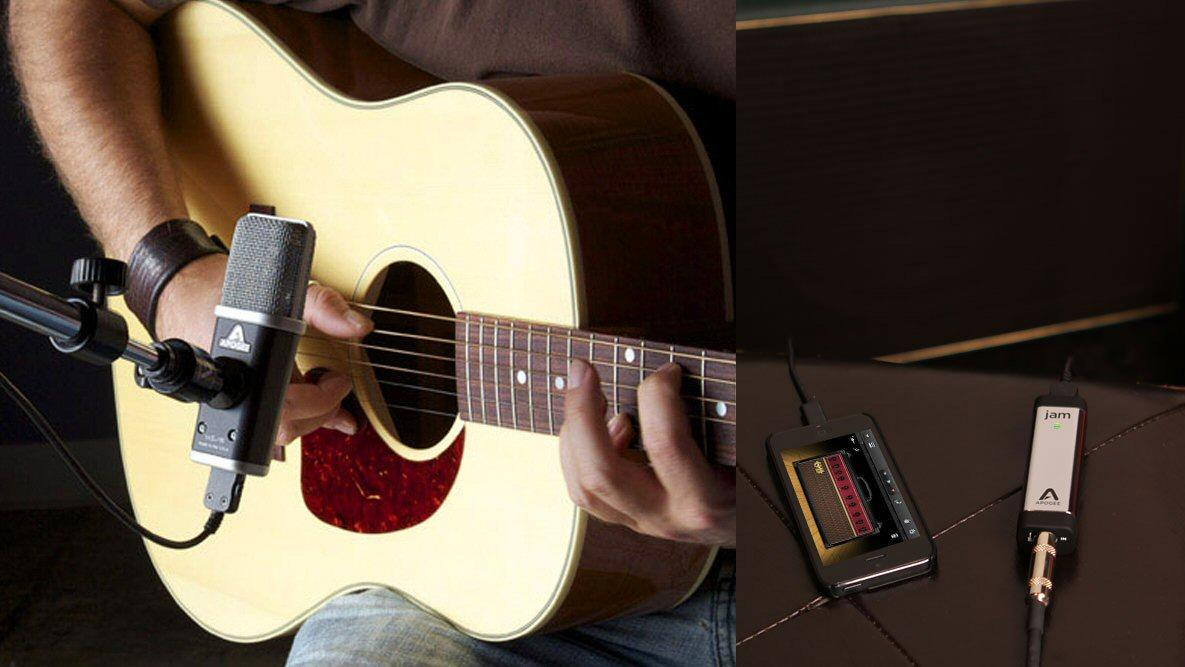 Apogee has released the JAM 96k professional guitar interface and the MiC 96k professional digital microphone, both designed for iPad, iPhone and Mac