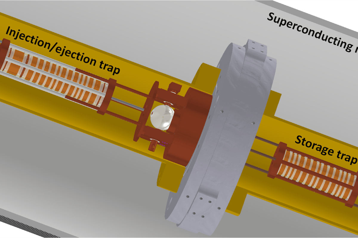 Diagram of the BASE-STEP trap to help store and transport antimatter