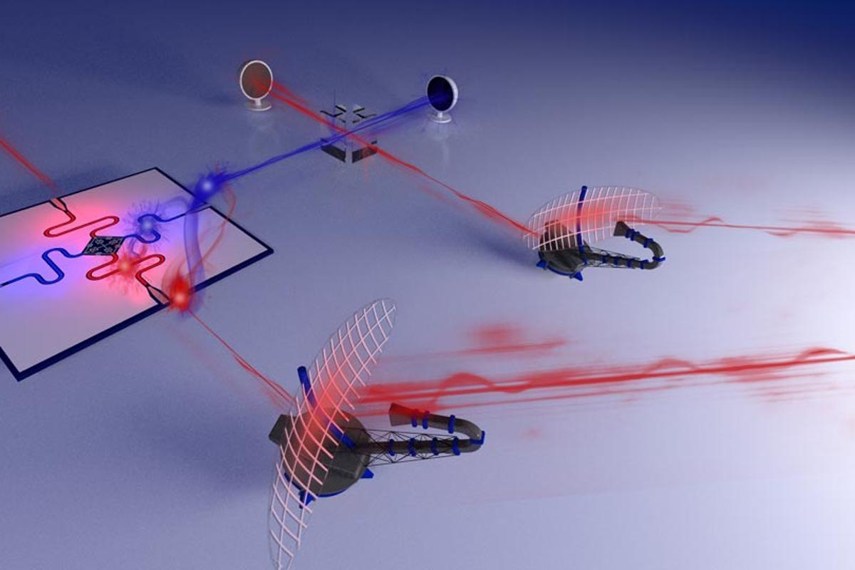 "An illustration of the ""Quantum radar"" prototype"