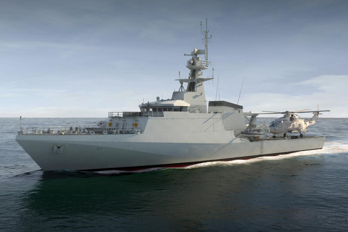Artist's concept of HMS Forth, which is now under construction
