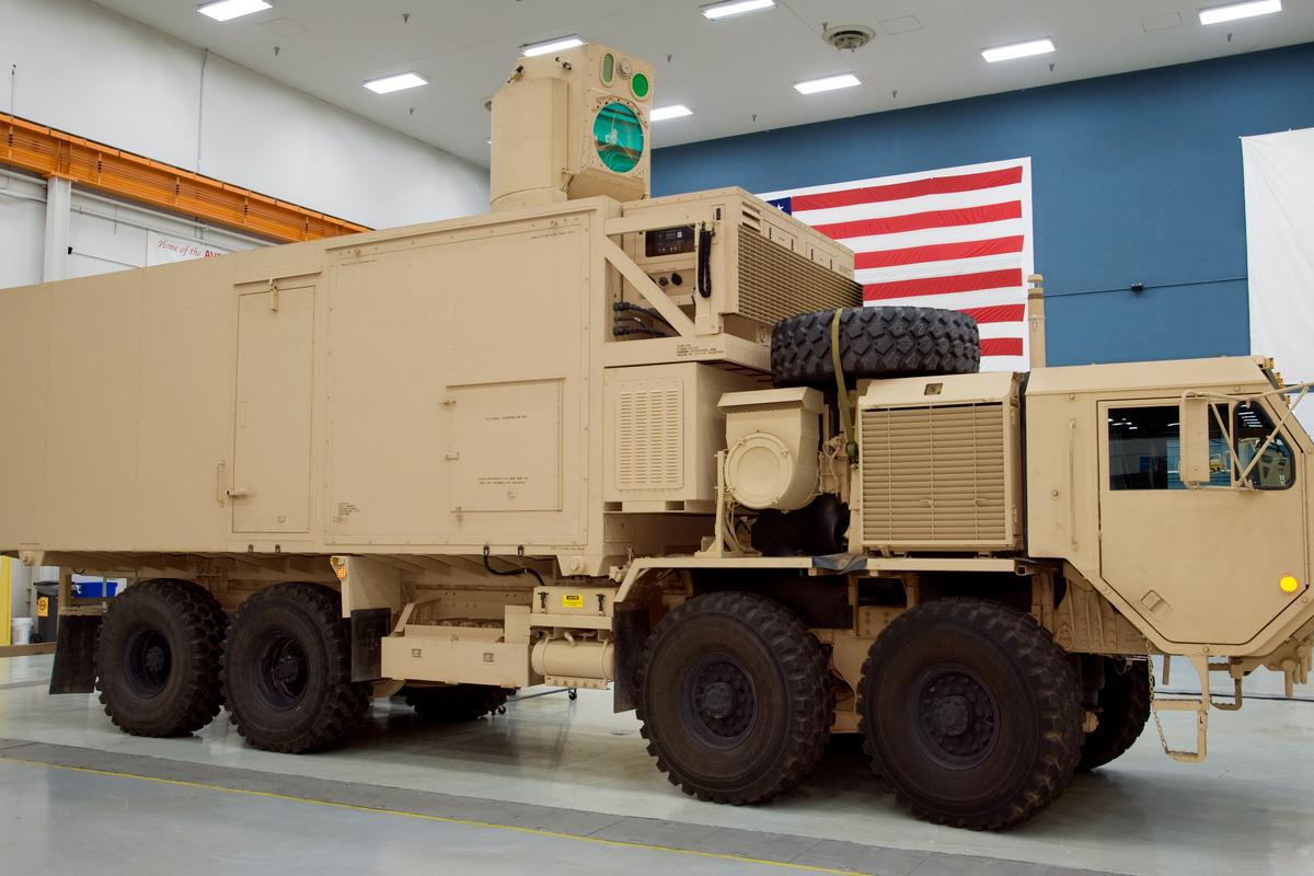 The High Energy Laser Mobile Demonstrator (HEL MD) that will incorporate a 10-kilowatt solid-state laser (Photo: Boeing)