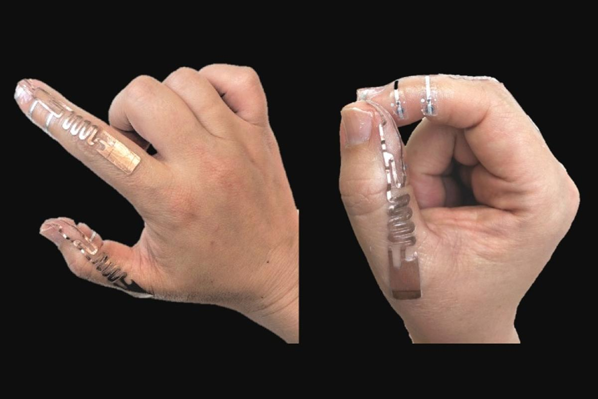 The Tip-Tap device, seen here in the form of an electronic tattoo