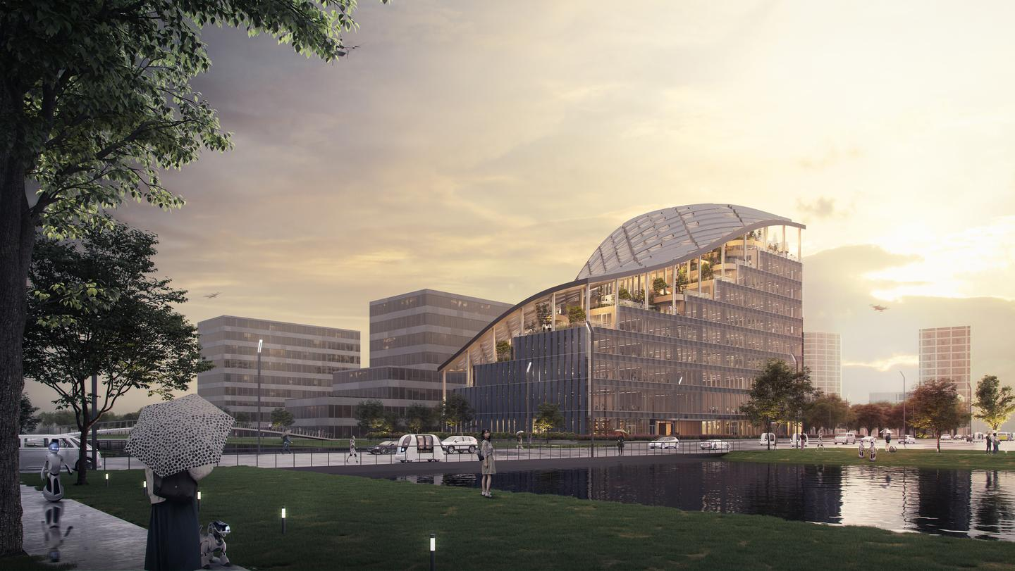 LAD HQ will be located next to a lake in Shanghai, China, and will consist of 11 floors