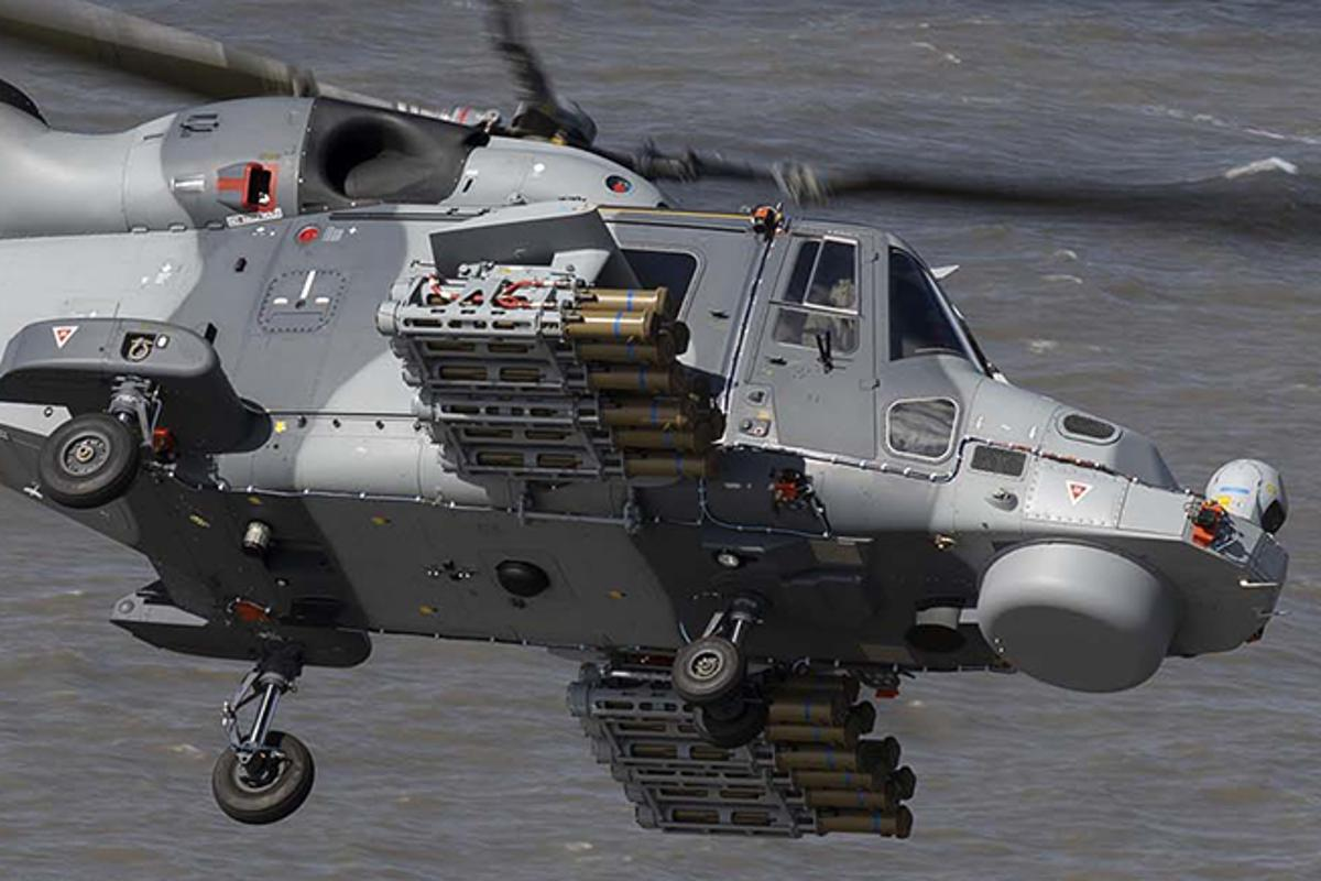 Firing trials of the Thales' Martlet LMM were conducted from a Leonardo AW159 Wildcat helicopter
