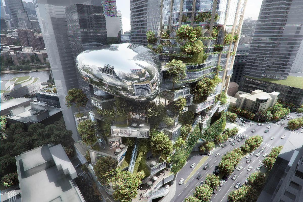 The Urban Tree, by MAD Architects and Elenberg Fraser, is one of the six skyscrapers proposed for Melbourne