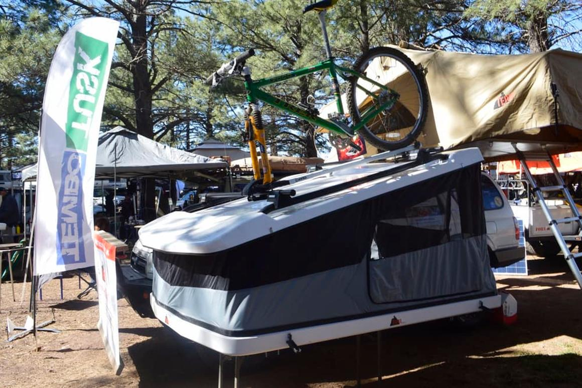 Tepui shows the Project White Lightning prototype at Overaldn Expo 2016 in May