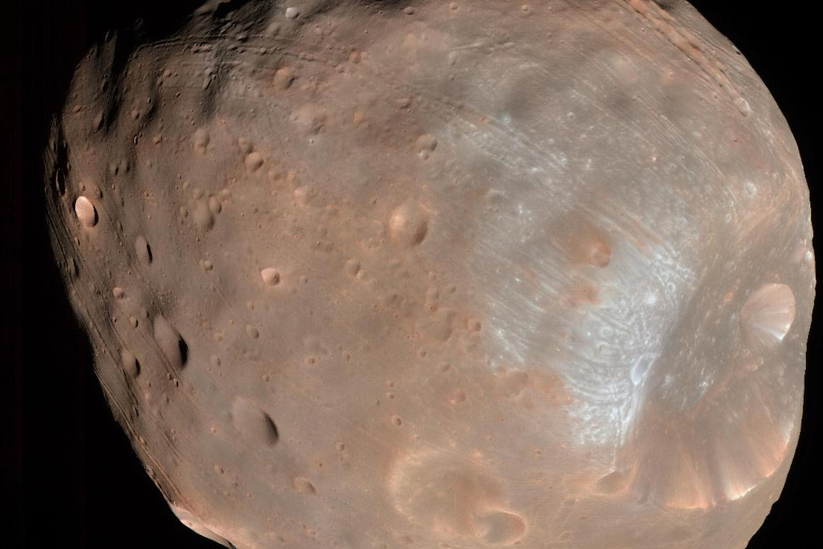 Phobos, as seen by NASA's Mars Reconnaissance Orbiter