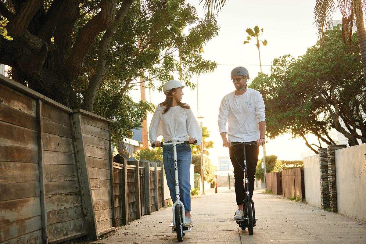 "Razor's big-wheel electric scooters have been designed as a ""fun, stylish, and safe way to travel short distances"""