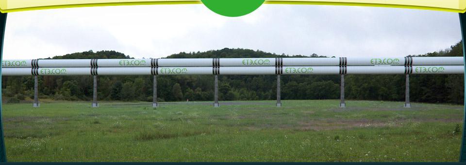View of the lightly built installed ETT tubes