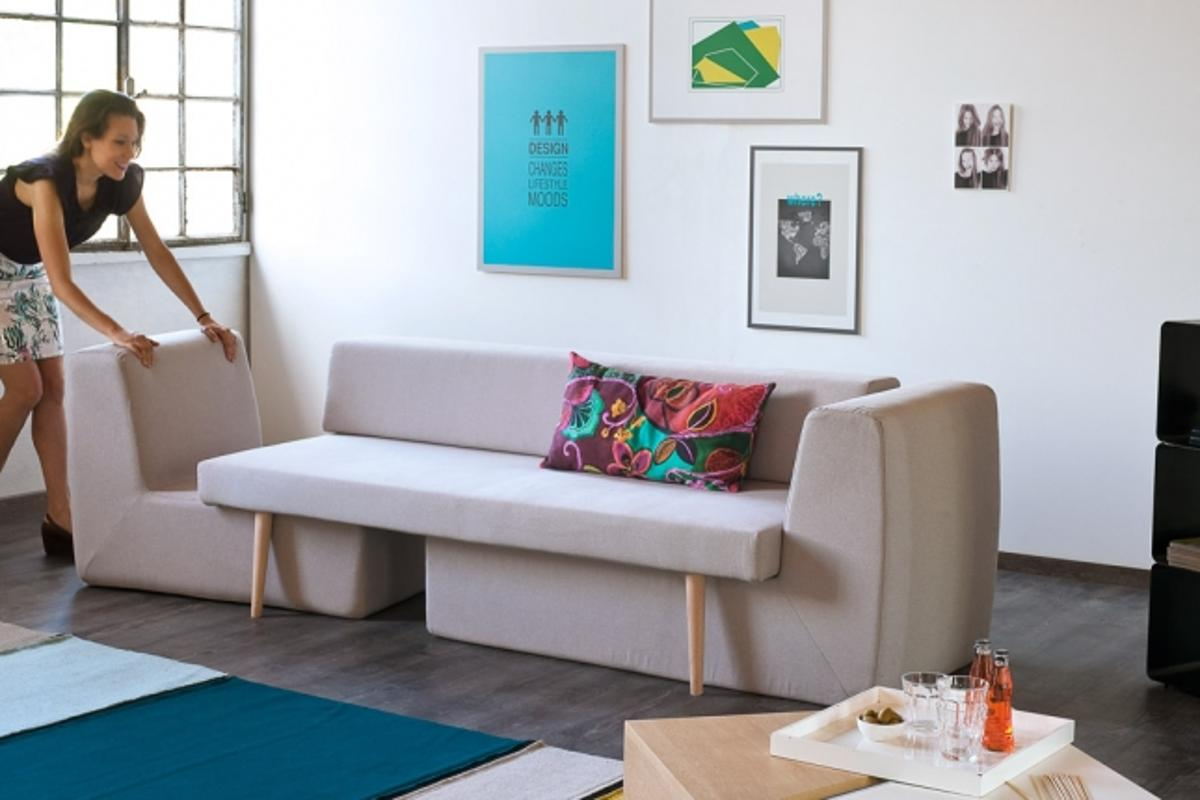 The Sofista is a modular sofa that turns from a basic couch into three separate seats