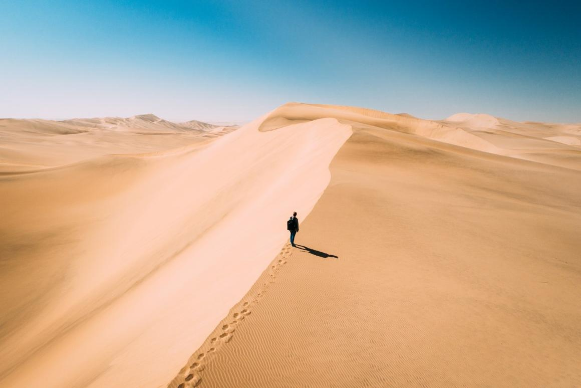The view over the dunes in Swakopmund, Namibia