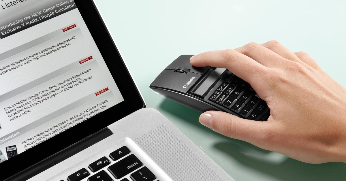 Canon X Mark I combines mouse, keypad and calculator
