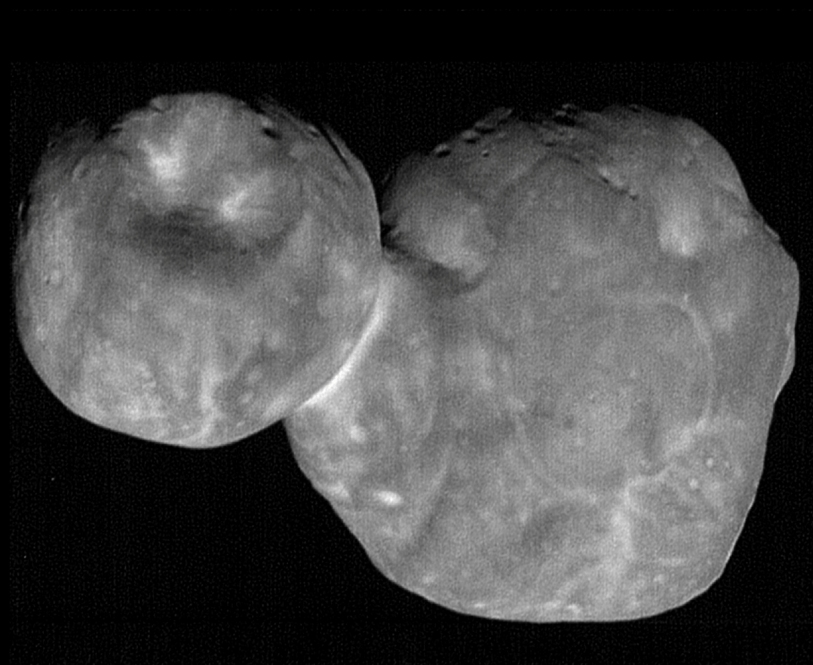 With a spatial resolution of 110 ft (33 m), this image of Ultima Thule is the highest resolution image that New Horizons has ever taken, and likely ever will