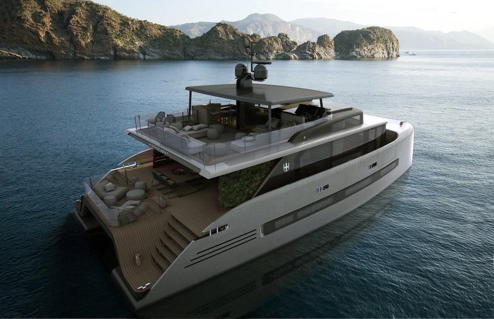 The Picchio Boat is a luxury catamaran concept which boasts a glass-bottom master bedroom