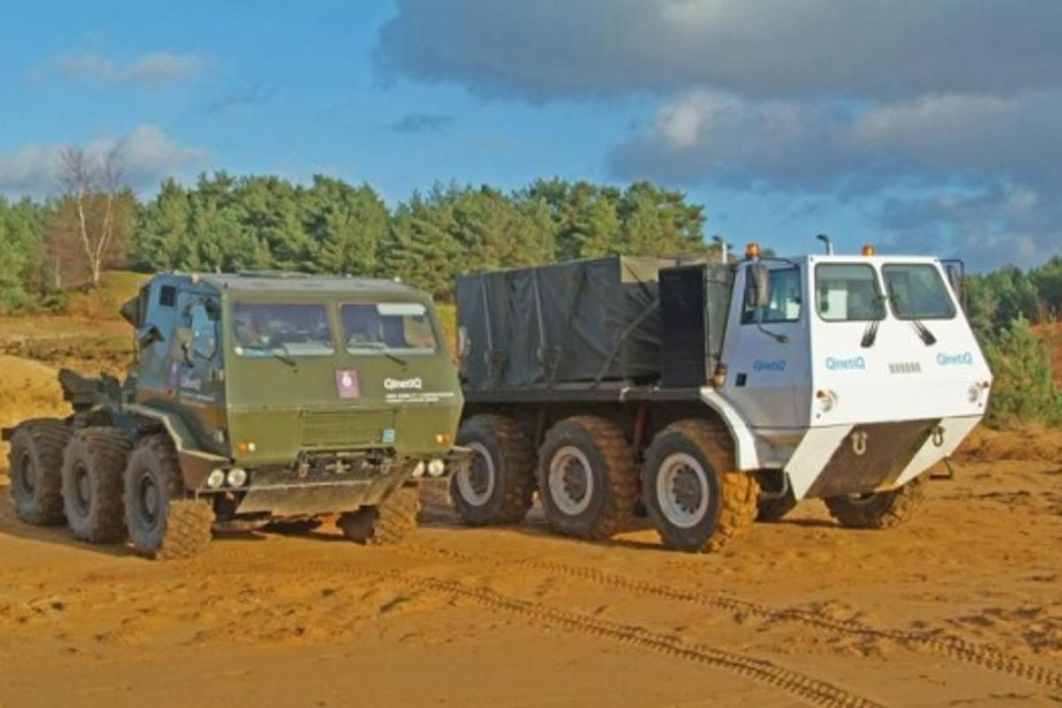 Existing Civil and military hybrid six wheelers from QinetiQ