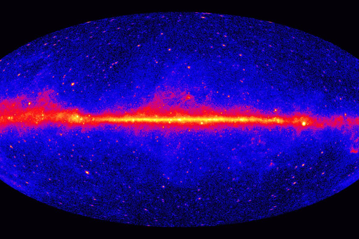 A whole sky picture of the Milky Way galaxy as seen in gamma-ray light (Photo: NASA)