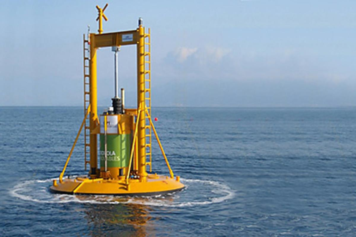 A wave energy project off the coast of Victoria, Australia will comprise 45 PowerBuoys (Photo: OCT)