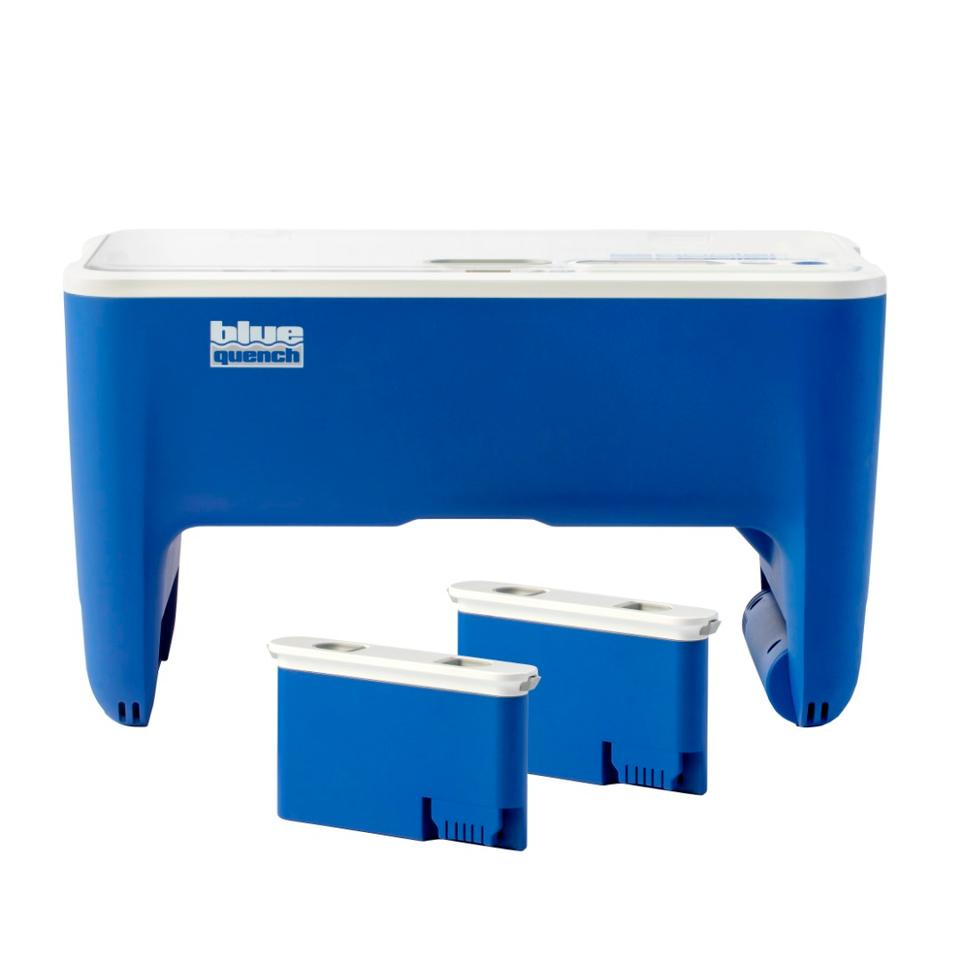 Qooler with removable batteries