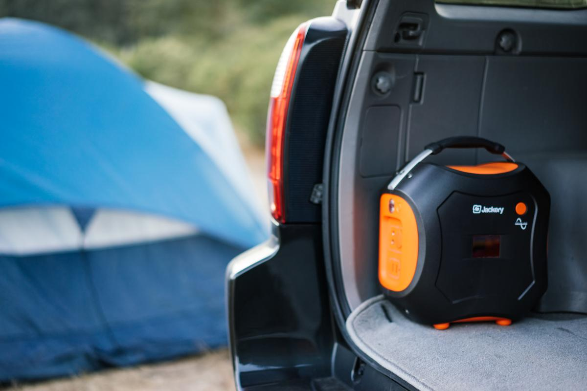 The Jackery Power Pro battery generator is splashproof and rugged
