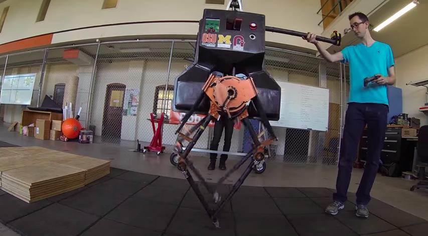 The emu-like ATRIAS robot is now capable of making its way over platforms 15 cm (0.5 ft) tall