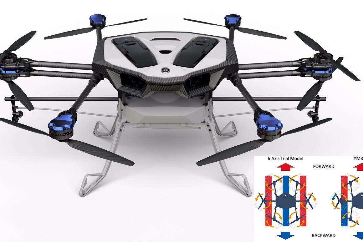 Combining coaxial rotor technology with a lightweight carbon body, theYMR-01can efficiently spray one hectare per flight