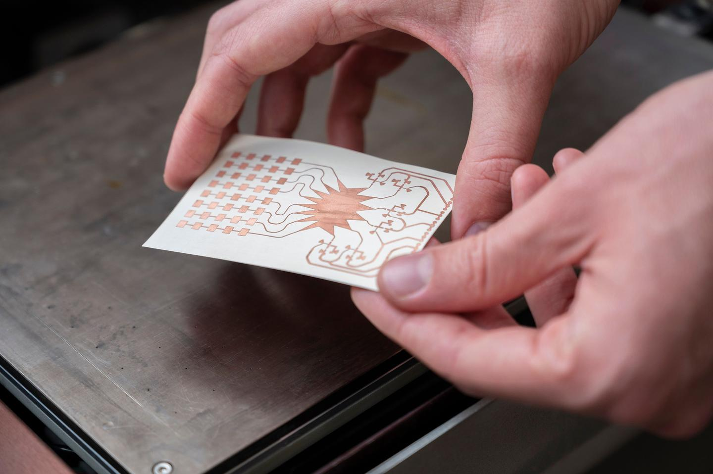 This inkjet-printed prototype of a mm-wave harvester allows devices to pull energy from 5G wireless communication systems out of the air and convert it into electricity
