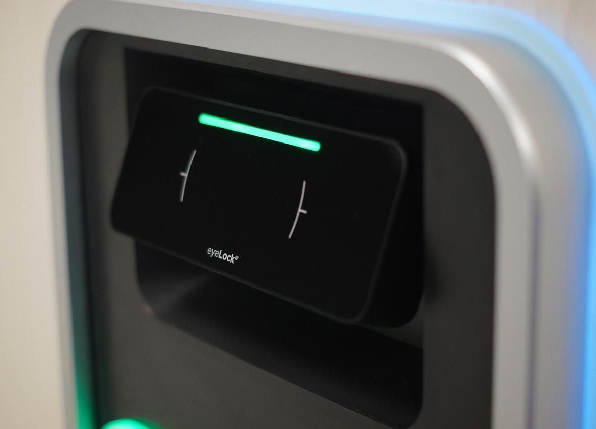 Irving's iris scanner replaces the regular keypad