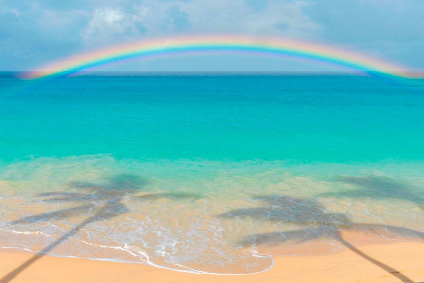 """Landscape –Barbados. """"There's always a rainbow after the rain"""""""