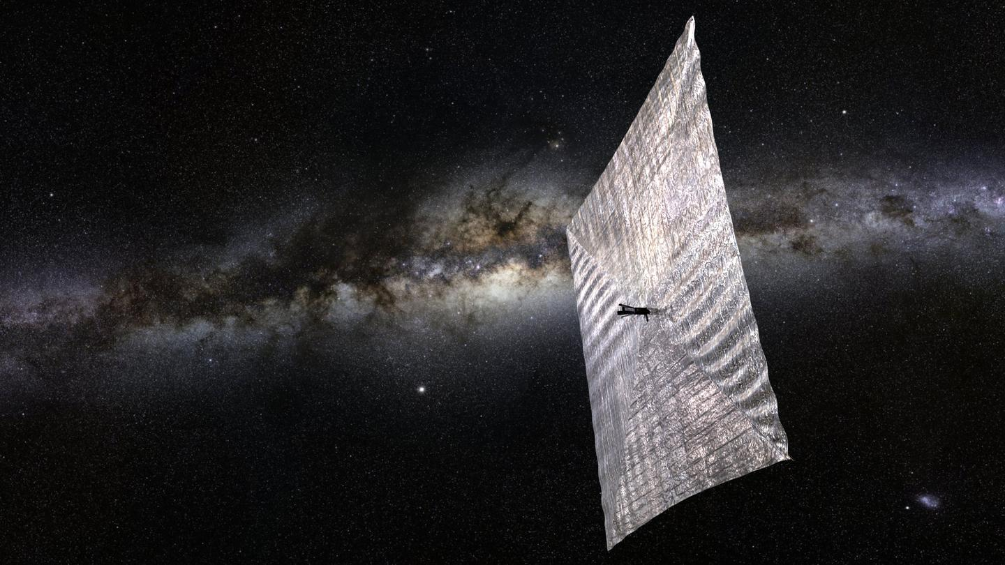 Artist's concept of LightSail fully deplyed