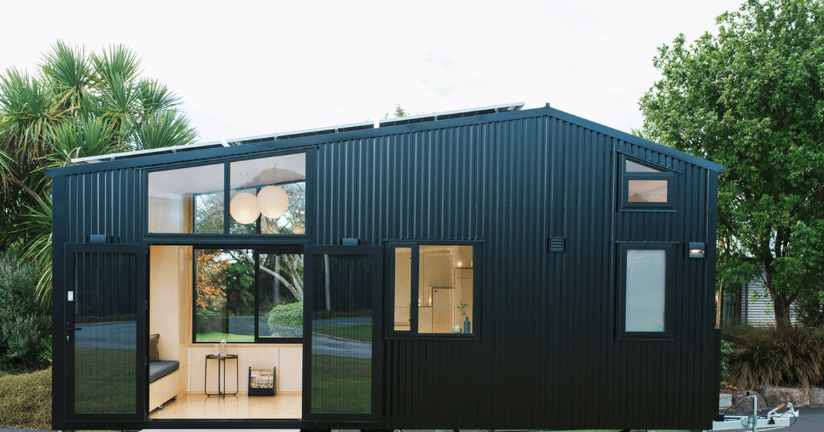 Off-grid tiny house is well-suited for home and away