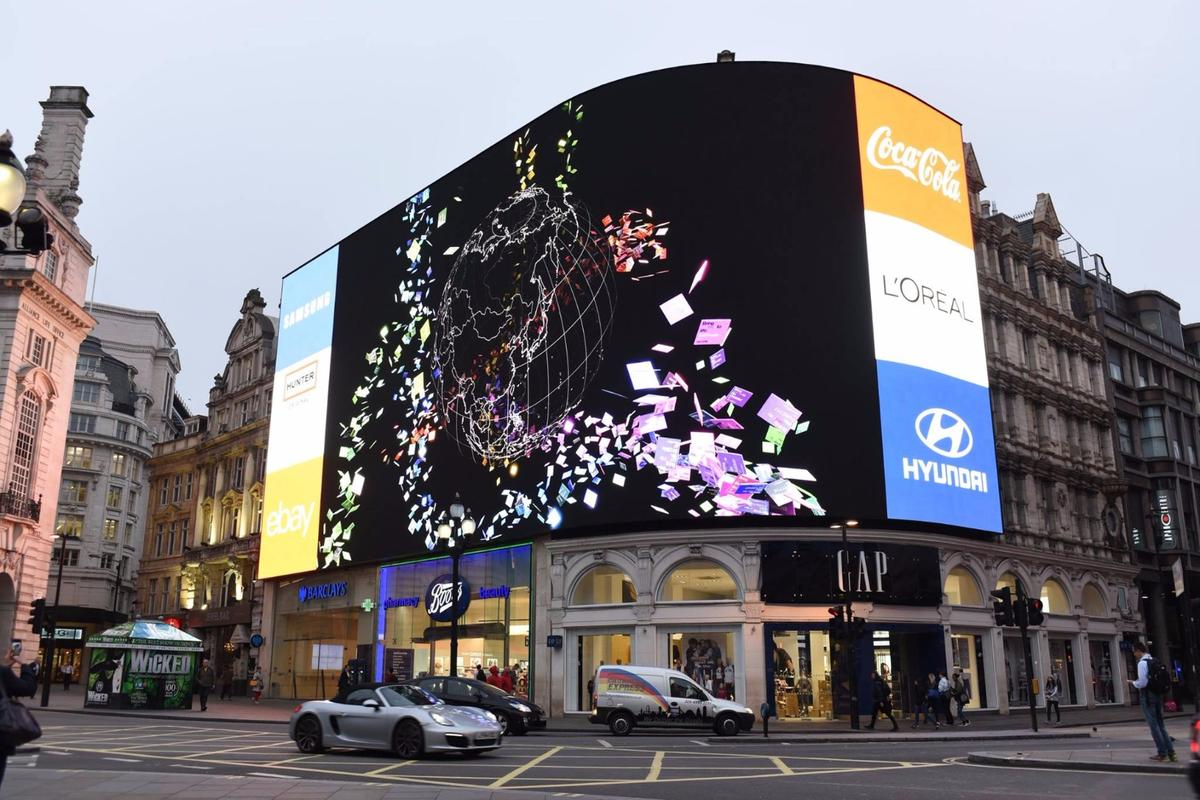 The Piccadilly Circus advertising displays have been turned off for renovation for nine months