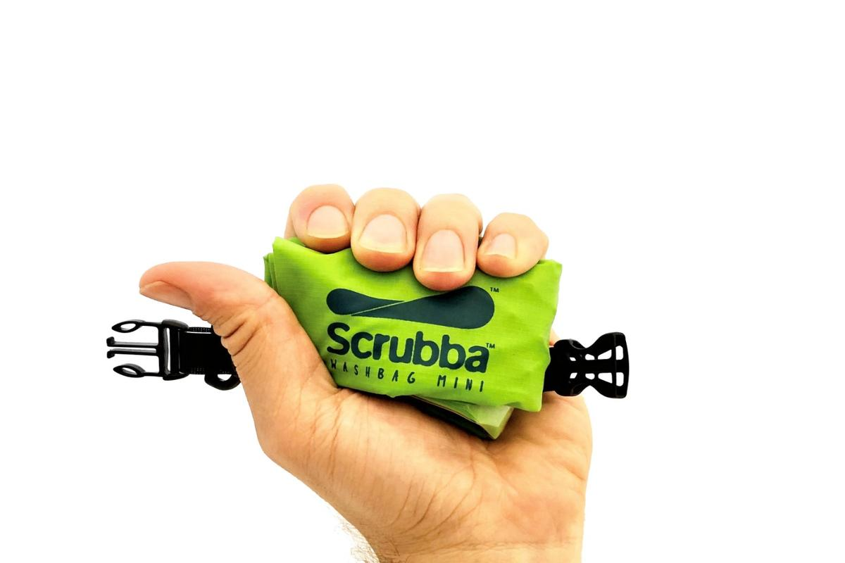 The Scrubba Mini tips the scales at just 70 g (2.5 oz)