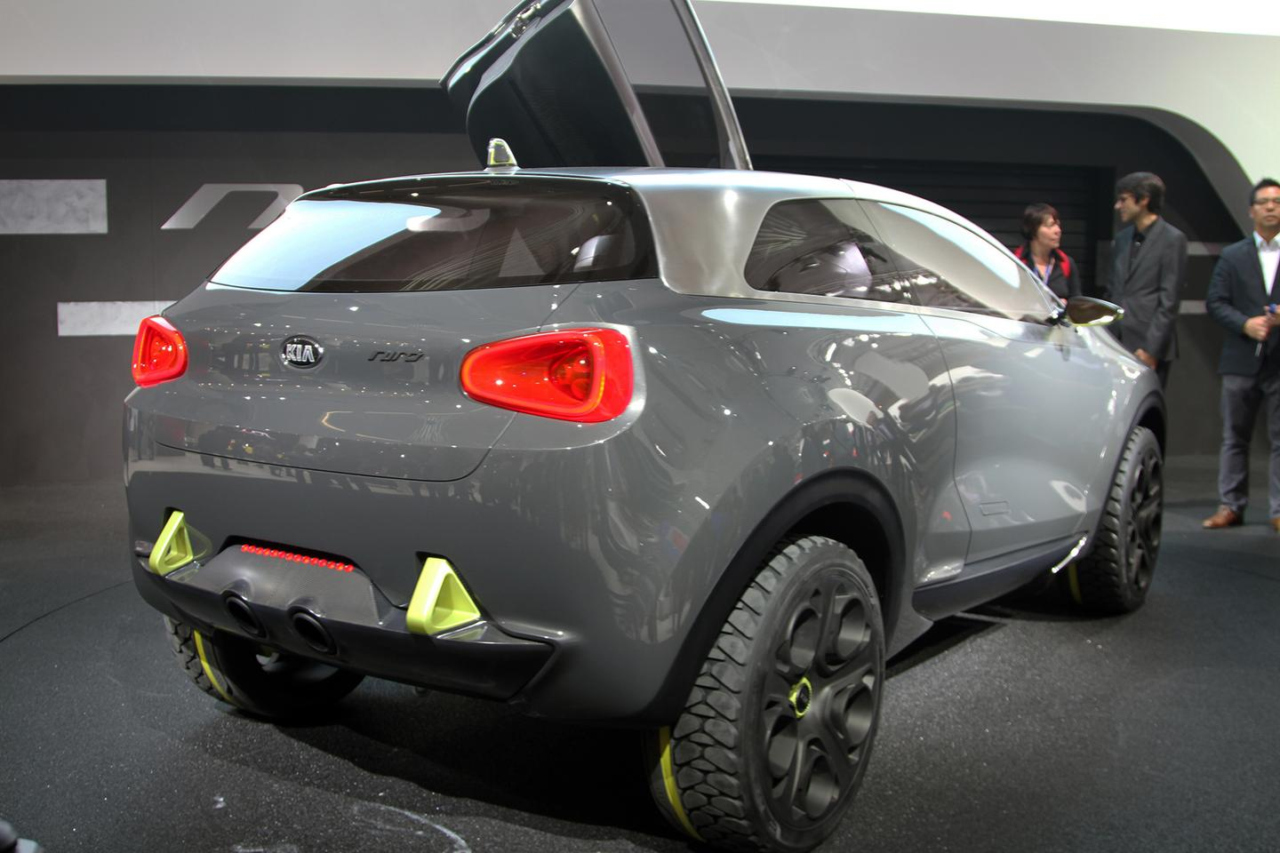 Niro concept has special rubber in the form of 225/40R20 tires (Photo: Gizmag.com)