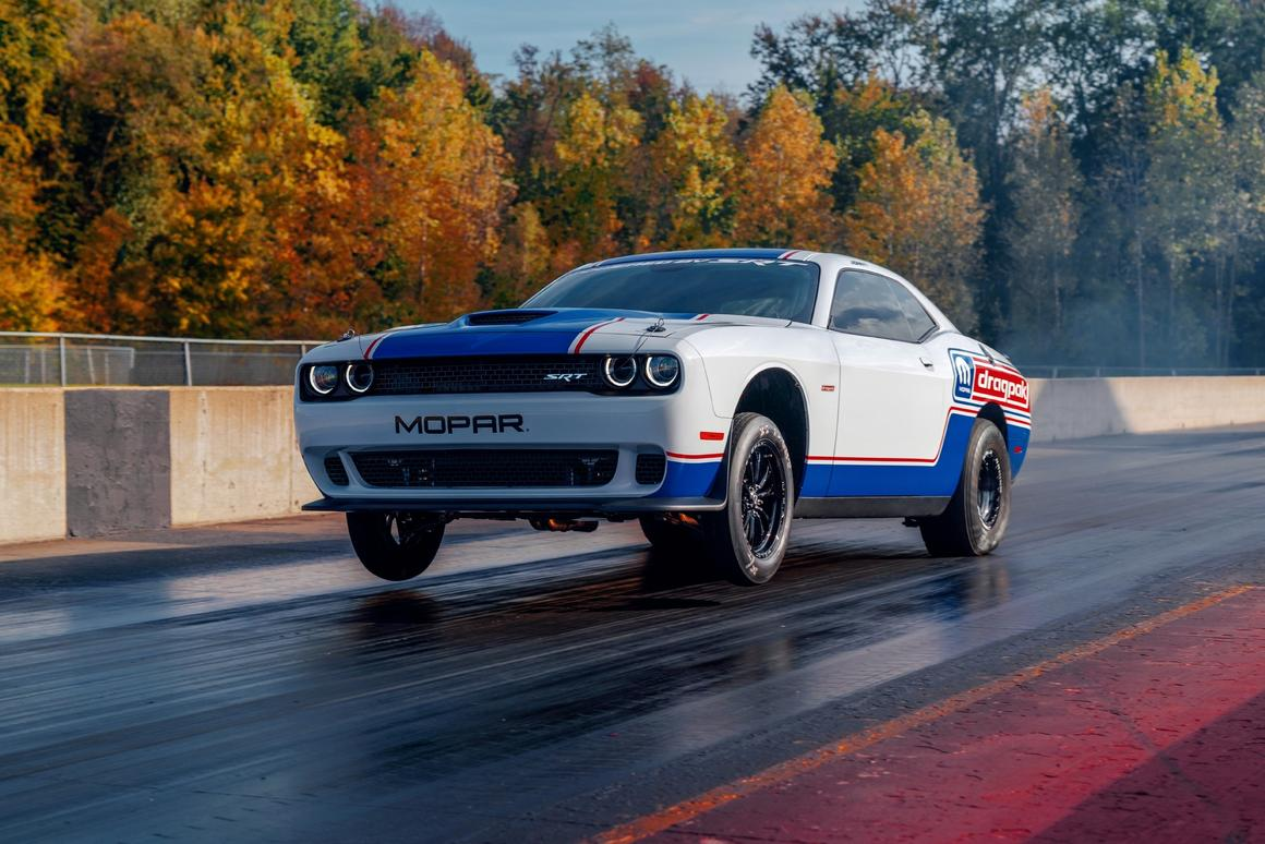 Introduction of the 2020 Mopar Dodge Challenger Drag Pak marks the fourth generation of the modern-day drag race package car