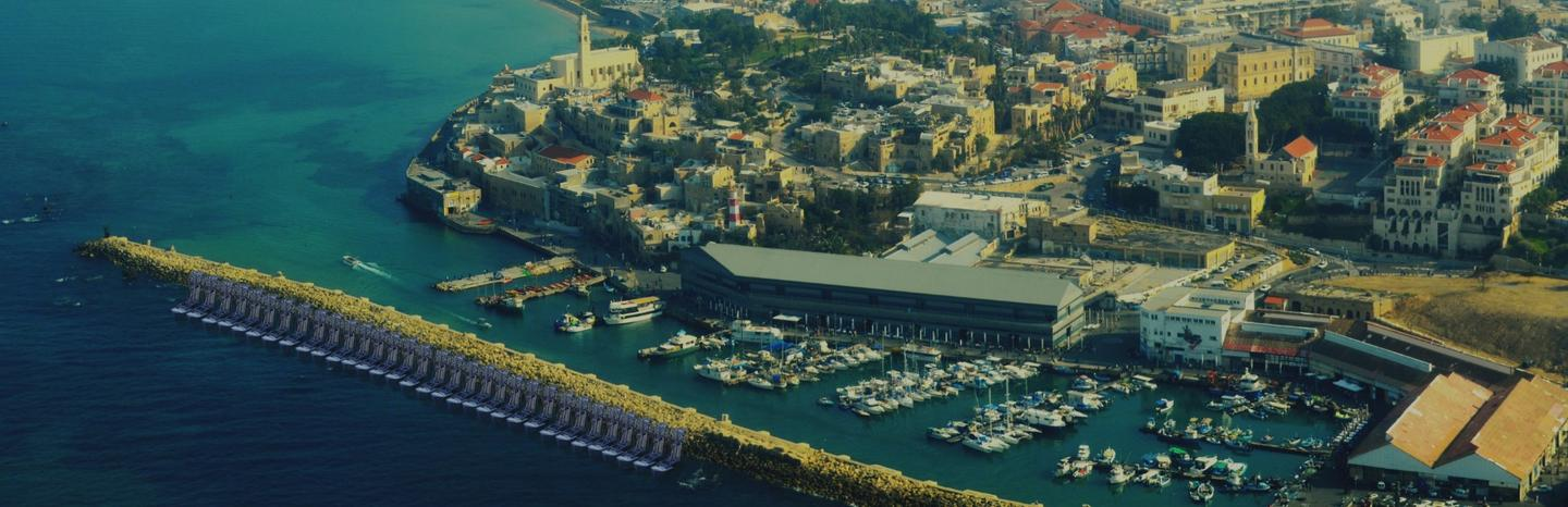 Rendering of the proposed grid-connected Eco Wave Power installation at Jaffa Port, Israel