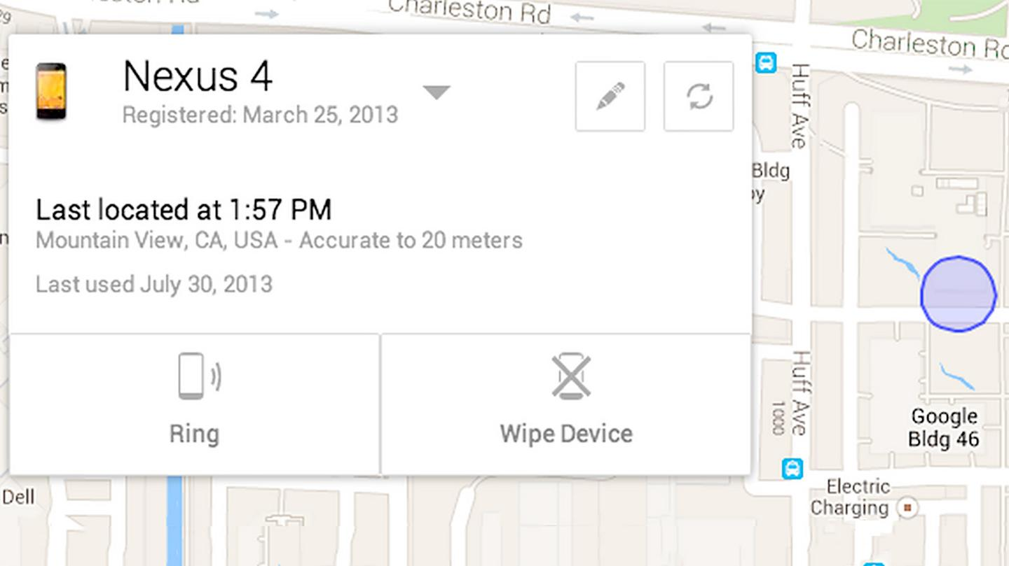 If you lose your Nexus 4 at Google Headquarters, you can easily find it on a map (Original image: Shutterstock)