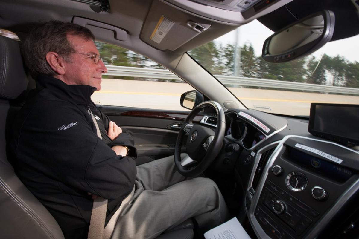 General Motors researchers, such as Innovation Program Manager Jeremy Salinger, are studying driver behavior in semi-autonomous driving situations (Photo: GM)