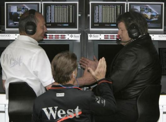 Kimi Raikkonen clinches pole position and the McLaren brains trust shares the moment - Mclaren is back on the pace!