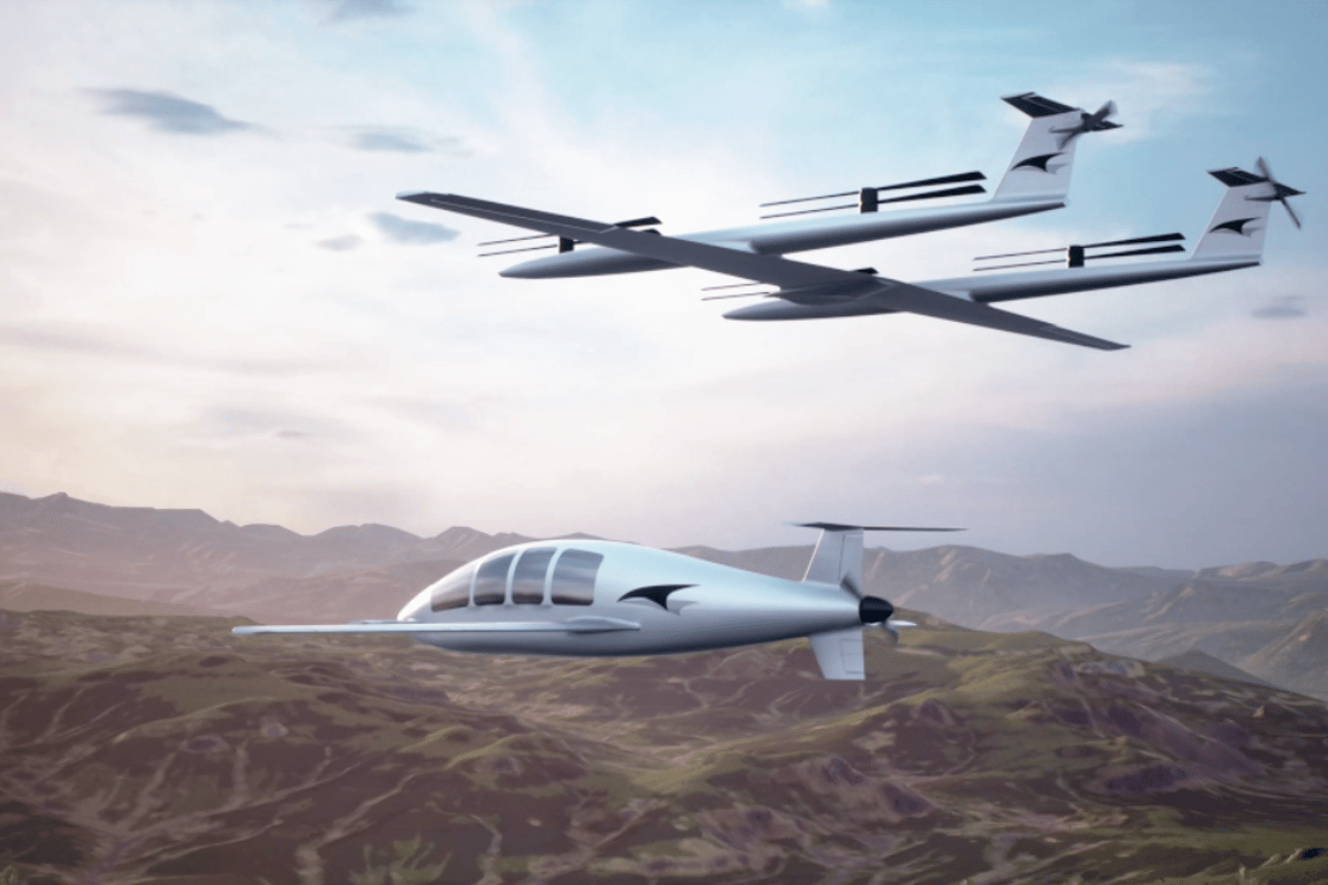 Talyn's autonomous Lift vehicle has its own glider-style wing and pusher props, allowing it to rendezvous with the Cruise vehicle