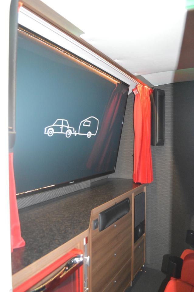 A peek in the door of the Mini Movie Campy