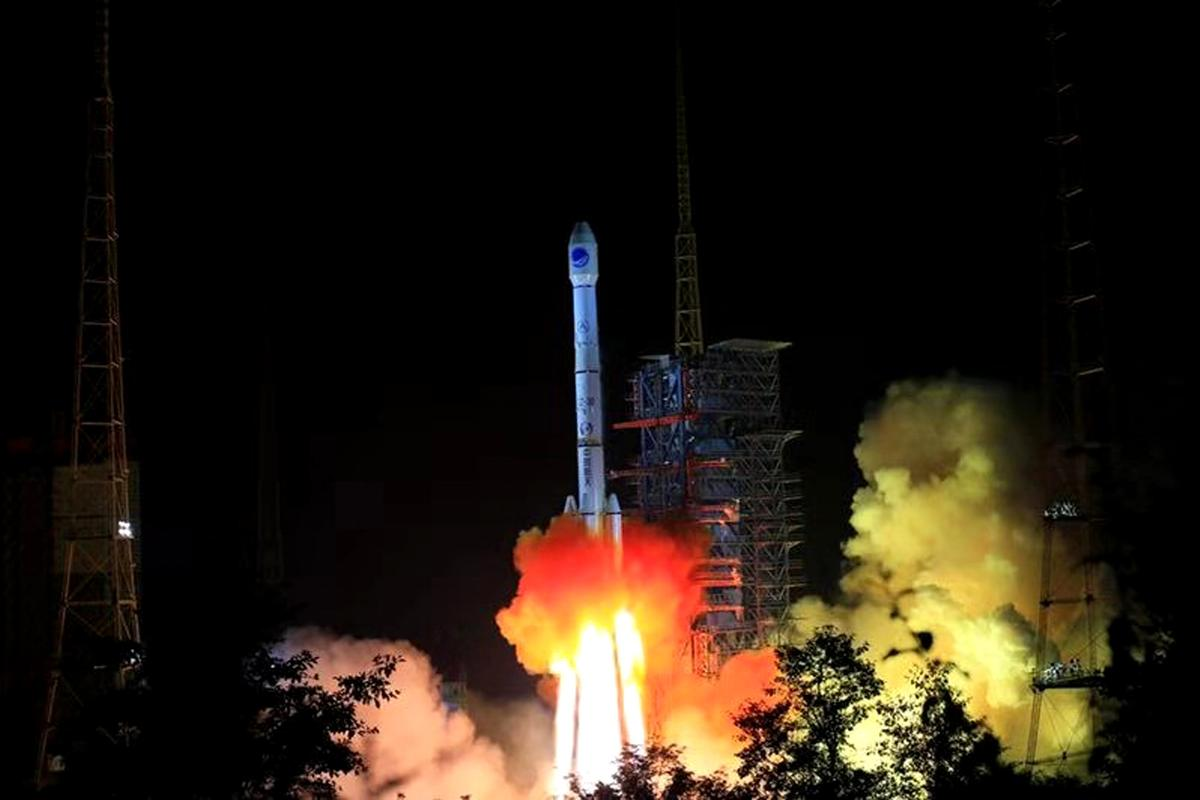 A BeiDou satellite is fired into space on an earlier launch