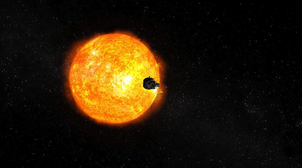 Artist's concept of the Parker Solar Probe approaching the Sun