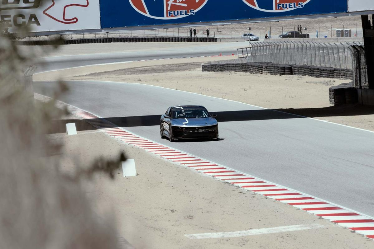 The Lucid Air has put in an impressive lap time at Laguna Seca, but when will it see production?