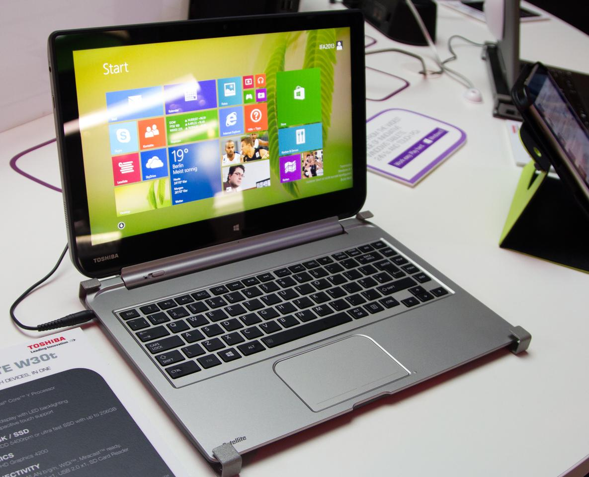 Toshiba has announced the Satellite W30t and W30Dt at IFA 2013